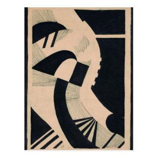 Komposition in Schwarz und Weiß by Otto Freundlic Postcard