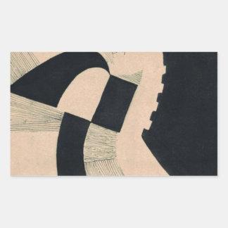 Komposition in Schwarz und Weiß by Otto Freundlic Rectangular Sticker