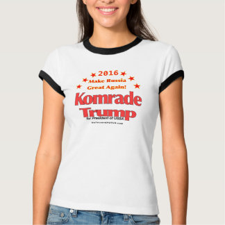 Komrade Trump 2016 Women's Ringer T-Shirt