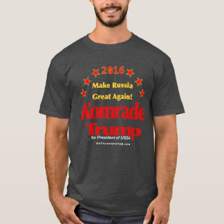 Komrade Trump Charcoal Men's Basic T-Shirt