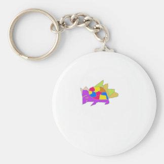 kon character from cartoon basic round button keychain