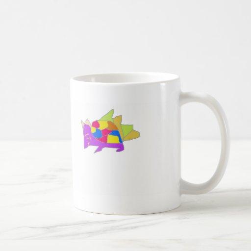 kon character from cartoon classic white coffee mug