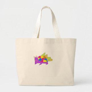 kon character from cartoon large tote bag