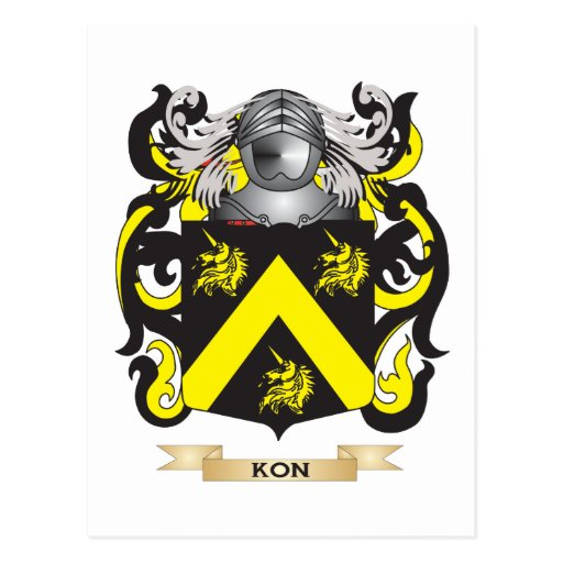 Kon Coat of Arms (Family Crest) Postcards