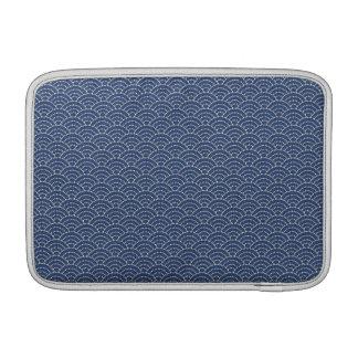KON - Japanese tabi-style Macbook sleeve cobalt -