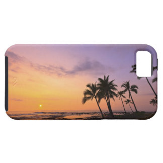 Kona、ハワイ2のKahaluu湾の日没 iPhone 5 Cases