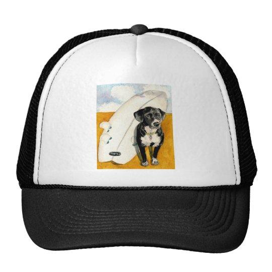 Kona and his Surfboard Trucker Hat
