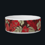 """Kona Bay Hawaiian Hibiscus Bowl<br><div class=""""desc"""">Inspired by the boardshorts and aloha shirts of the fifties and sixties,  this pattern combines hibiscus flowers with palm and monstera leaves. Customize the bowl with your pet&#39;s name in English,  Hawaiian or the language of your choice! These designs come in several colorways.</div>"""