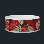 "Kona Bay Hawaiian Hibiscus Bowl<br><div class=""desc"">Inspired by the boardshorts and aloha shirts of the fifties and sixties,  this pattern combines hibiscus flowers with palm and monstera leaves. Customize the bowl with your pet&#39;s name in English,  Hawaiian or the language of your choice! These designs come in several colorways.</div>"