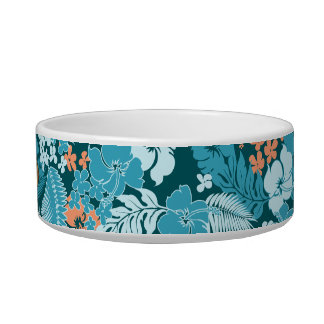 Kona Bay Hawaiian Hibiscus Cat Bowl