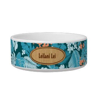 Kona Bay Hawaiian Hibiscus Pet Bowls Cat Food Bowl