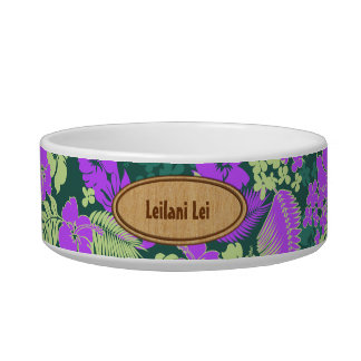 Kona Bay Hawaiian Hibiscus Pet Bowls Cat Water Bowl