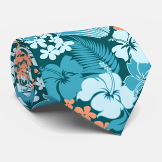 Kona Bay Hawaiian Hibiscus Two-sided Printed Neck Tie