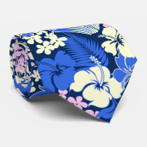 Kona Bay Hawaiian Hibiscus Two-sidedPrinted Neck Tie