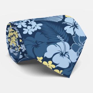 Kona Bay Hawaiian Hibiscus Two-sided Printed Neck Tie