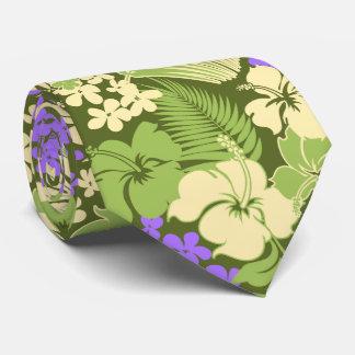Kona Bay Hawaiian Hibiscus Two-sidedPrinted Tie