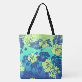 Kona Blend Hawaiian Hibiscus Beach Bag