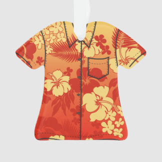Kona Blend Hawaiian Hibiscus Flora Aloha Shirt Ornament
