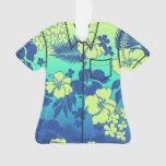 Kona Blend Hawaiian Hibiscus Flora Aloha Shirt Ornament at Zazzle