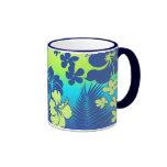 Kona Blend Hawaiian Hibiscus Ringer Coffee Mug