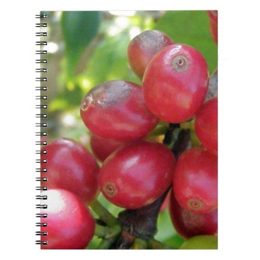 Kona Coffee -  Cherries Spiral Note Books