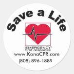 Kona CPR's Save a Life Sticker