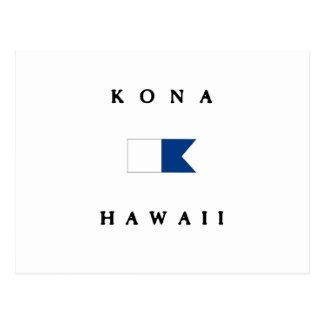 Kona Hawaii Alpha Dive Flag Postcard