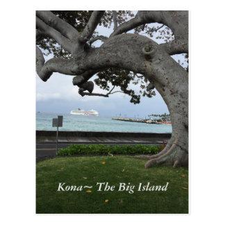 """Kona Hawaii """"The Big Island"""" Postcard"""