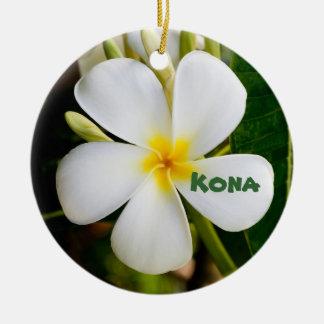Kona Keepsake Double-Sided Ceramic Round Christmas Ornament