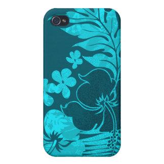 Kona mide el tiempo de iPhone hawaiano del hibisco iPhone 4/4S Funda