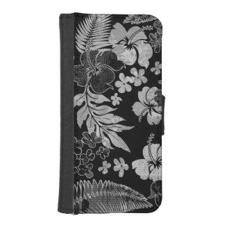 Kona mide el tiempo de la cartera hawaiana del fundas billetera de iPhone 5