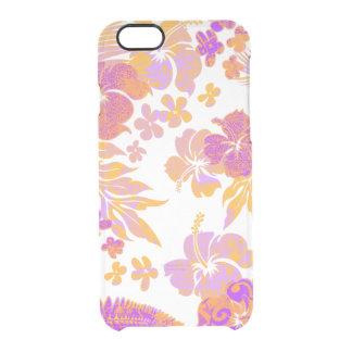 Kona mide el tiempo del Hawaiian del hibisco Funda Clear Para iPhone 6/6S