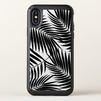 Kona Palms Hawaiian Leaf Tropical - Black Speck iPhone X Case