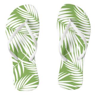 Kona Palms Hawaiian Leaf Tropical Flip Flops