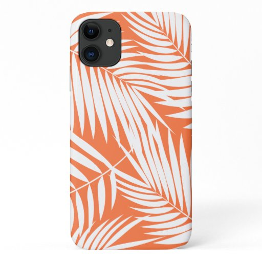 Kona Palms Hawaiian Leaf Tropical Papaya iPhone 11 Case