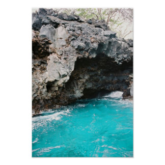 Kona Sea Cave Nature Poster