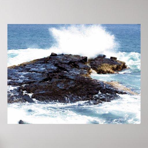 Kona shoreline 8 print