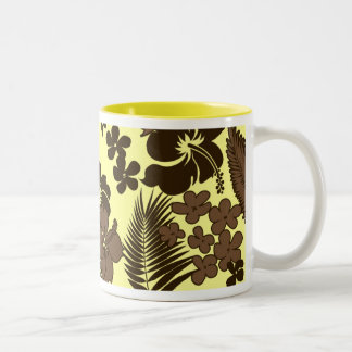 Kona Time Hawaiian Hibiscus Two-Tone Coffee Mug