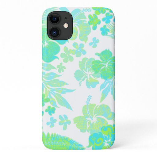 Kona Times Aqua Hibiscus Hawaiian Engineered iPhone 11 Case