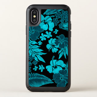 Kona Times Hibiscus Hawaiian Engineered Teal Speck iPhone X Case