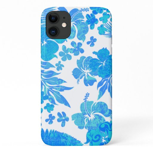 Kona Times Turq Hibiscus Hawaiian Engineered iPhone 11 Case