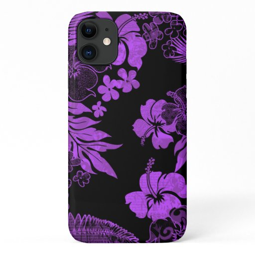 Kona Times Viloet Hibiscus Hawaiian Engineered iPhone 11 Case