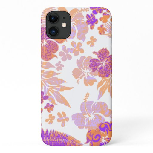 Kona Times Violet Hibiscus Hawaiian Engineered iPhone 11 Case