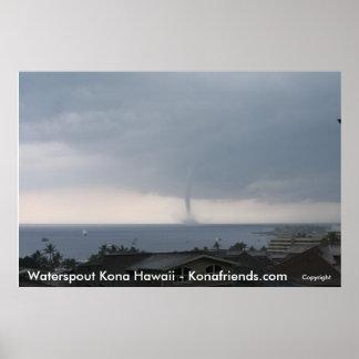 Kona Waterspout 2009 Poster