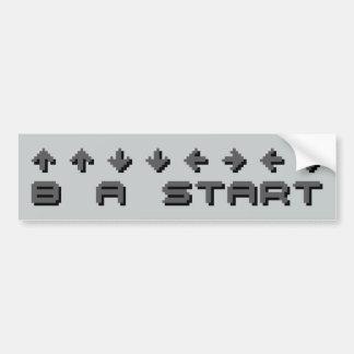 Konami Code 8-bit Pixel Bumper Sticker