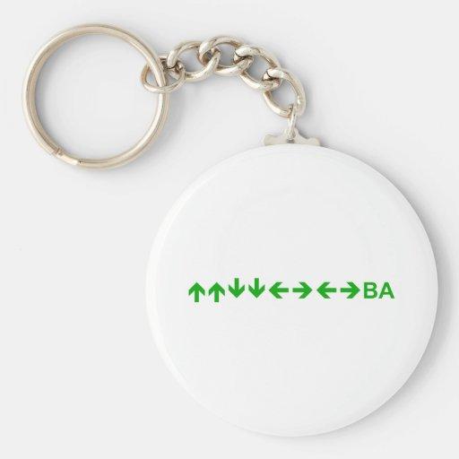 Konami Code in Green Keychain