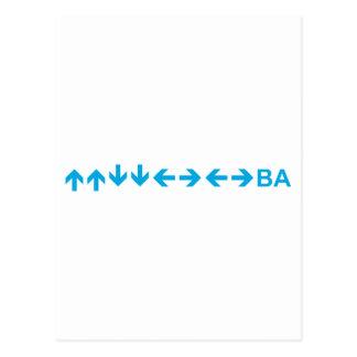 Konami Code in Light Blue Post Card
