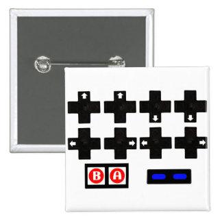 Konami Contra Code 2 Inch Square Button