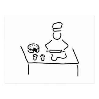 konditor konfiseur cake bakers postcard