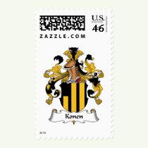 Konen Family Crest Stamps